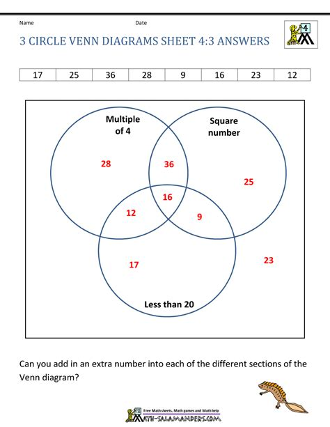 venn diagram 3 circles worksheet 3 circle venn diagram worksheets
