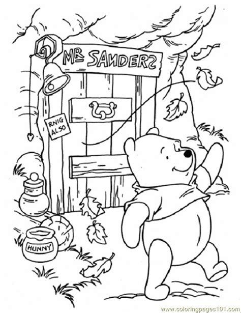 pooh in windy day coloring page free winnie the pooh