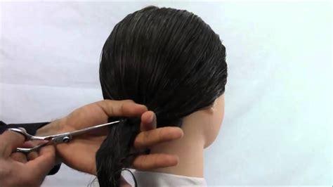 cortes de cabello para dama corte de cabello para dama en un solo paso youtube