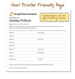 Printable Thanksgiving Potluck Sign Up Sheet Template by Best Photos Of Christmas Potluck Sign Up Templates