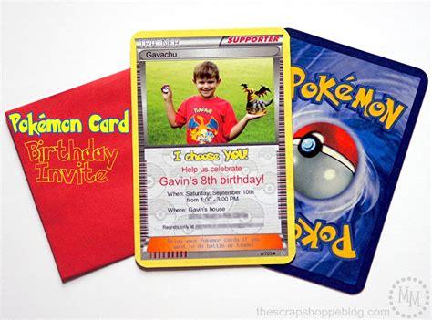 birthday rsvp card template pikachu pok 233 mon card birthday invitation the scrap shoppe