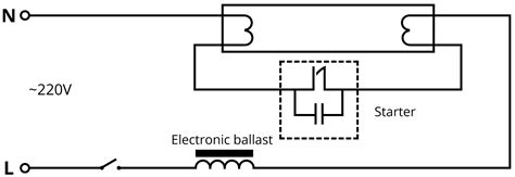 with diagram for wiring fluorescent starters wiring diagrams