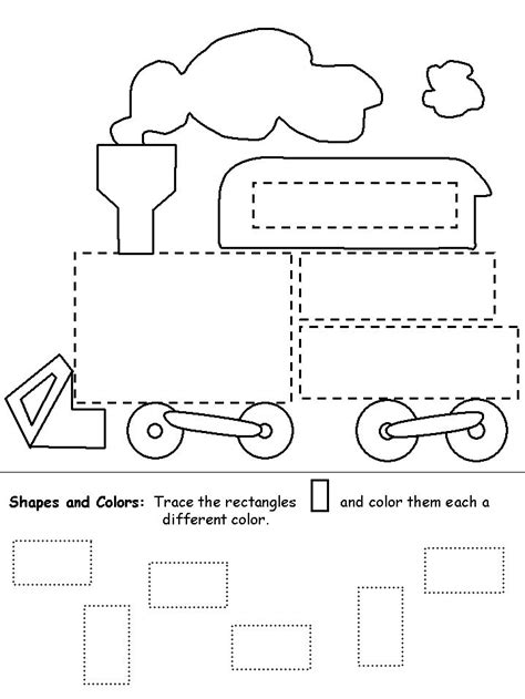 Rectangle Worksheet by Rectangle Shape Recognition Practice Worksheet Teaching