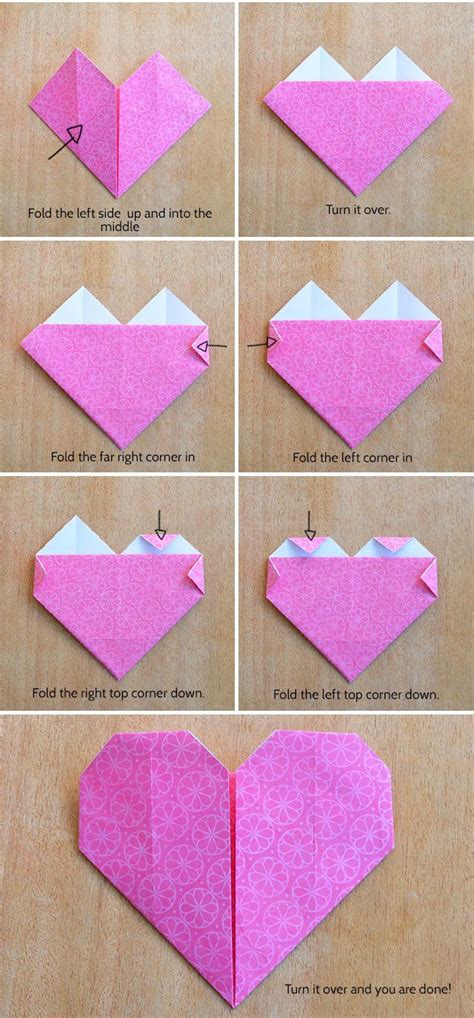 origami hearts make an origami kidspot