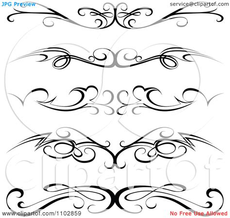 tattoo borders designs clipart black tribal tr st tattoos or rule border