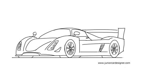 kid car drawing how to draw a le mans race car junior car designer