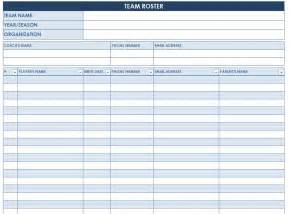 soccer team template soccer roster template soccer team roster template