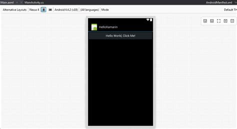 layout xamarin creating android apps with xamarin in visual studio