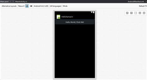xamarin layout axml creating android apps with xamarin in visual studio