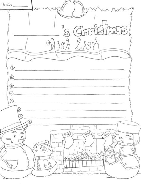 christmas wishlist lineart by candy gal75 on deviantart