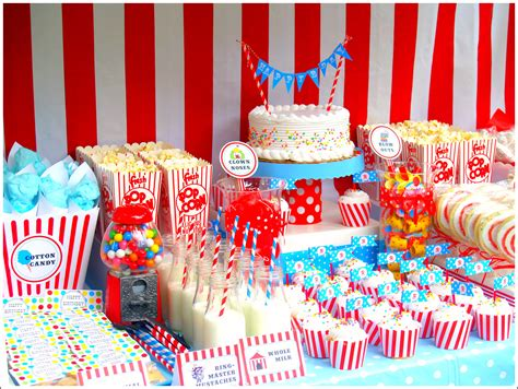 carnival themed birthday decorations circus ideas