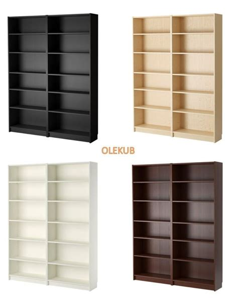 ikea billy bookcase width 63 quot different colors ebay