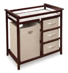 cherry modern changing table with her baskets baby center