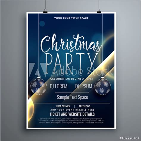 design poster buy christmas poster party flyer design template with hanging