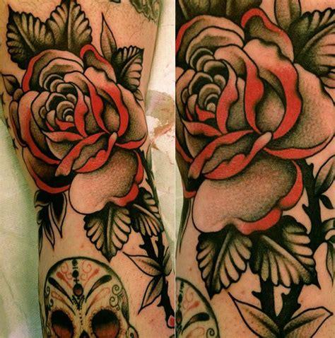 tatuae re black rose tattoo 1815 beautiful red and black rose tattoo by stizzo tattoos