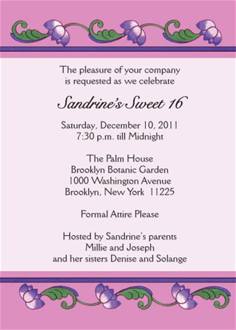 sweet sixteen program template sweet sixteen invitation style sw16 18