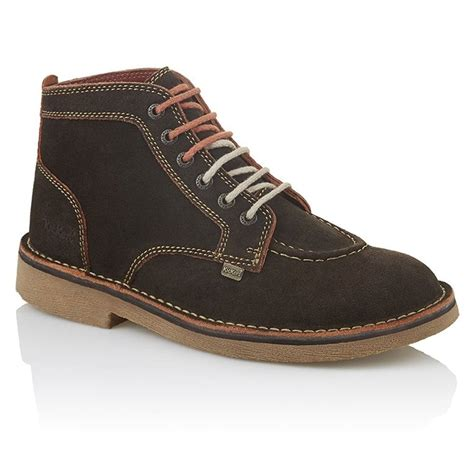 Kickers Soft Brown kickers kick legendry mens brown orange suede lace up boot from jelly egg uk