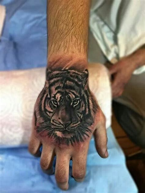 tiger hand tattoo tiger ideas