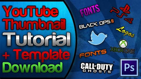 download youtube thumbnail youtube custom thumbnail tutorial free template download