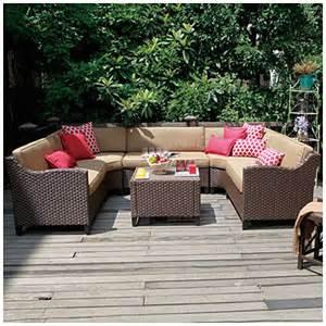 Big Lots Patio Furniture Sets View Wilson Fisher 174 Riviera Resin Wicker 6 Modular Seating Set Deals At Big Lots