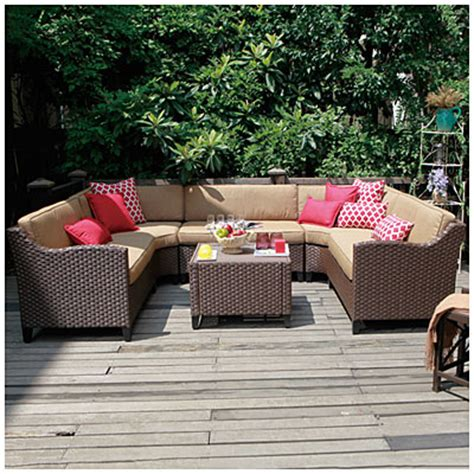 Wilson And Fisher Wicker Patio Furniture View Wilson Fisher 174 Riviera Resin Wicker 6 Modular Seating Set Deals At Big Lots