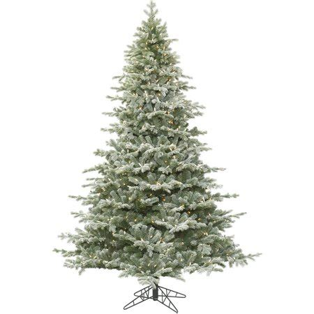 iholiday aisle vs vickerman vickerman 3 5 frosted denton spruce artificial tree with 200 clear lights walmart
