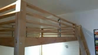 lit mezzanine bois pin massif 2 places clasf