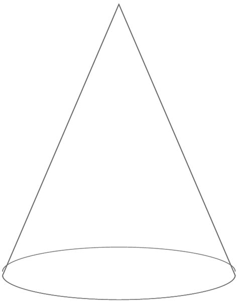 free coloring pages of cone shape