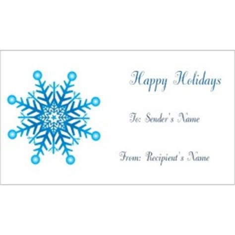 templates snowflake gift tags on business cards 10 per