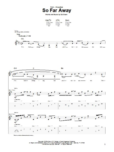 So Far Away Guitar Chords