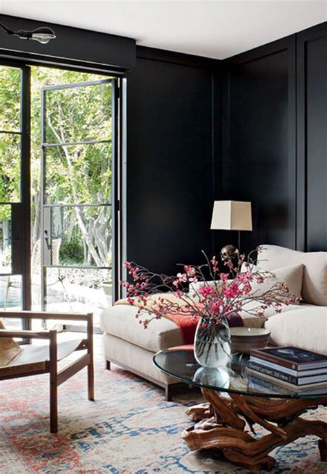 black painted living room don t be afraid of the 12 black walls done right
