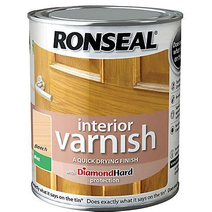 Ronseal Diamond Hard Floor Varnish White Ash   2.5L