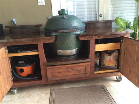 big green egg table plans ideas design big green egg table w plenty of storage and