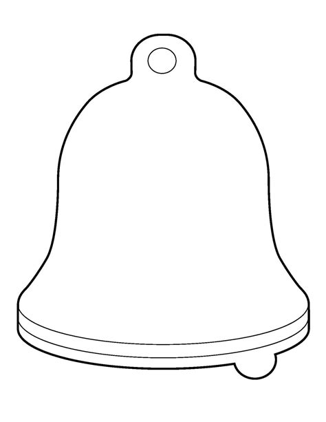Christmas Bell Template Printable Party Ideas Diy S Pinterest Template Stenciling And Bell Template