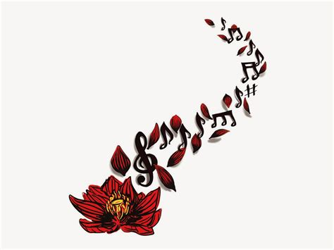 music and flower tattoo designs filbin world literature with popa