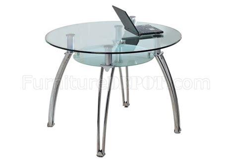 Glass Top Metal Base Modern Dining Table W Frosted Glass Glass Top Metal Base Modern Dining Table W Shelf