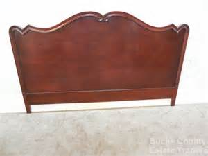 antique 1940s mahogany traditional king size bed headboard