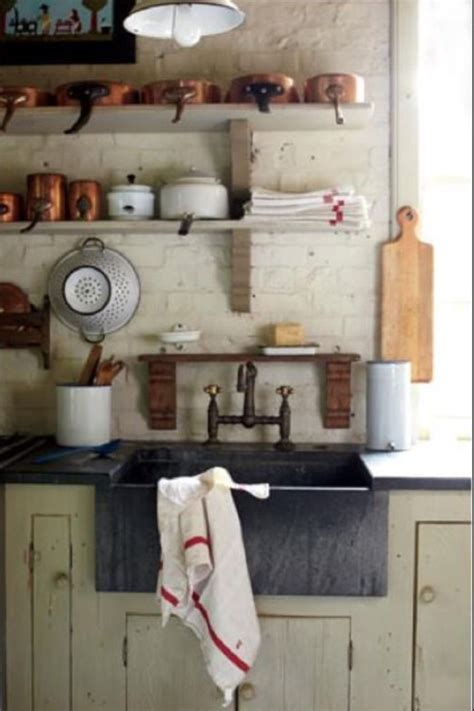 rustic kitchen farm kitchens pinterest