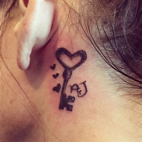 key tattoo behind ear meaning 70 best behind the ear tattoos for women