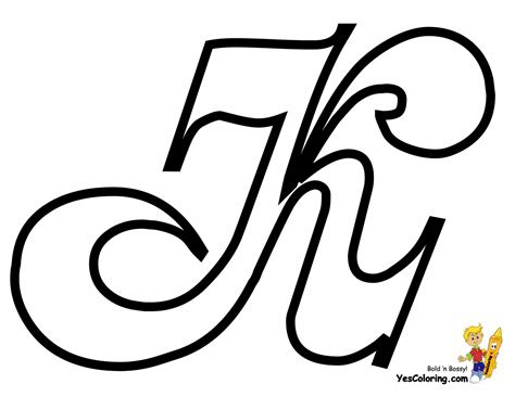 K Coloring Pages by Cursive Letter Coloring Page Free Letter