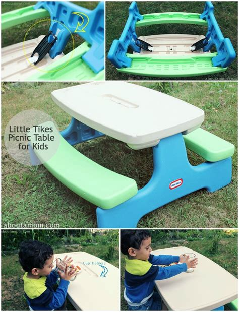 little tikes easy store picnic table with blue little tikes picnic table for kids about a mom
