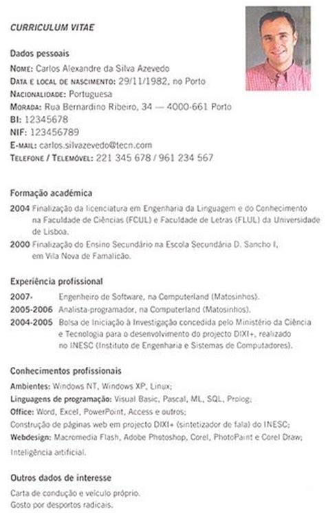 Modelo De Curriculum Vitae Para España 25 Melhores Ideias De Modelo De Curriculum Simples No Modelo Simples De Curriculo