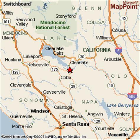 lower california map lower lake california