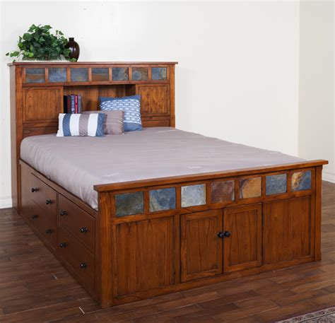 captains bed queen bedroom espresso captain queen size bed with 12 drawers no headboard design idea