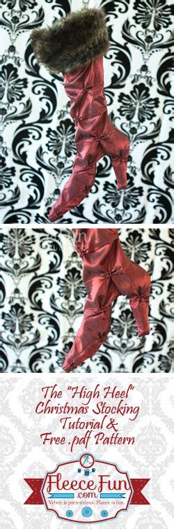 free pattern for high heel christmas stocking how to make a high heel christmas stocking fleece fun