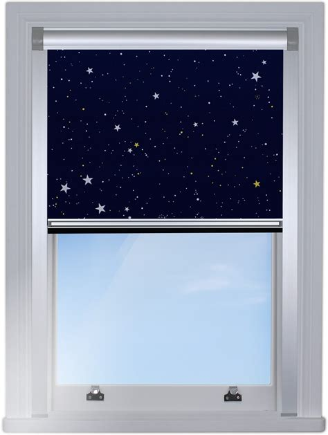 stars navy total blackout roller blind