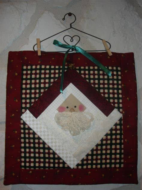 Log Cabin Pillow Pattern by Log Cabin Santa Small Quilt Wallhanging Or Pillow