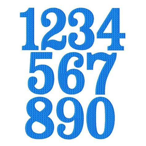 typography numbers fanfare font