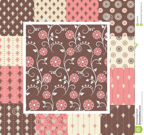 pattern brown pink elegant seamless patterns in pink and brown colors royalty