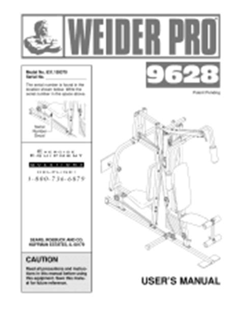 weider pro 9628 manual